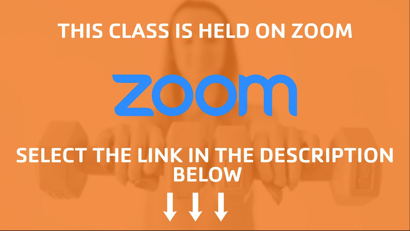 class is held on zoom description